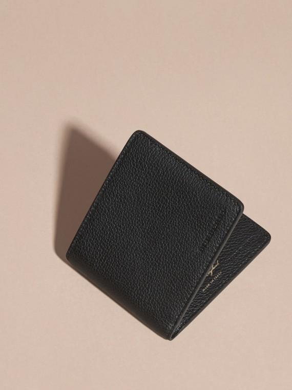 Черный Складной бумажник из кожи Черный - cell image 2