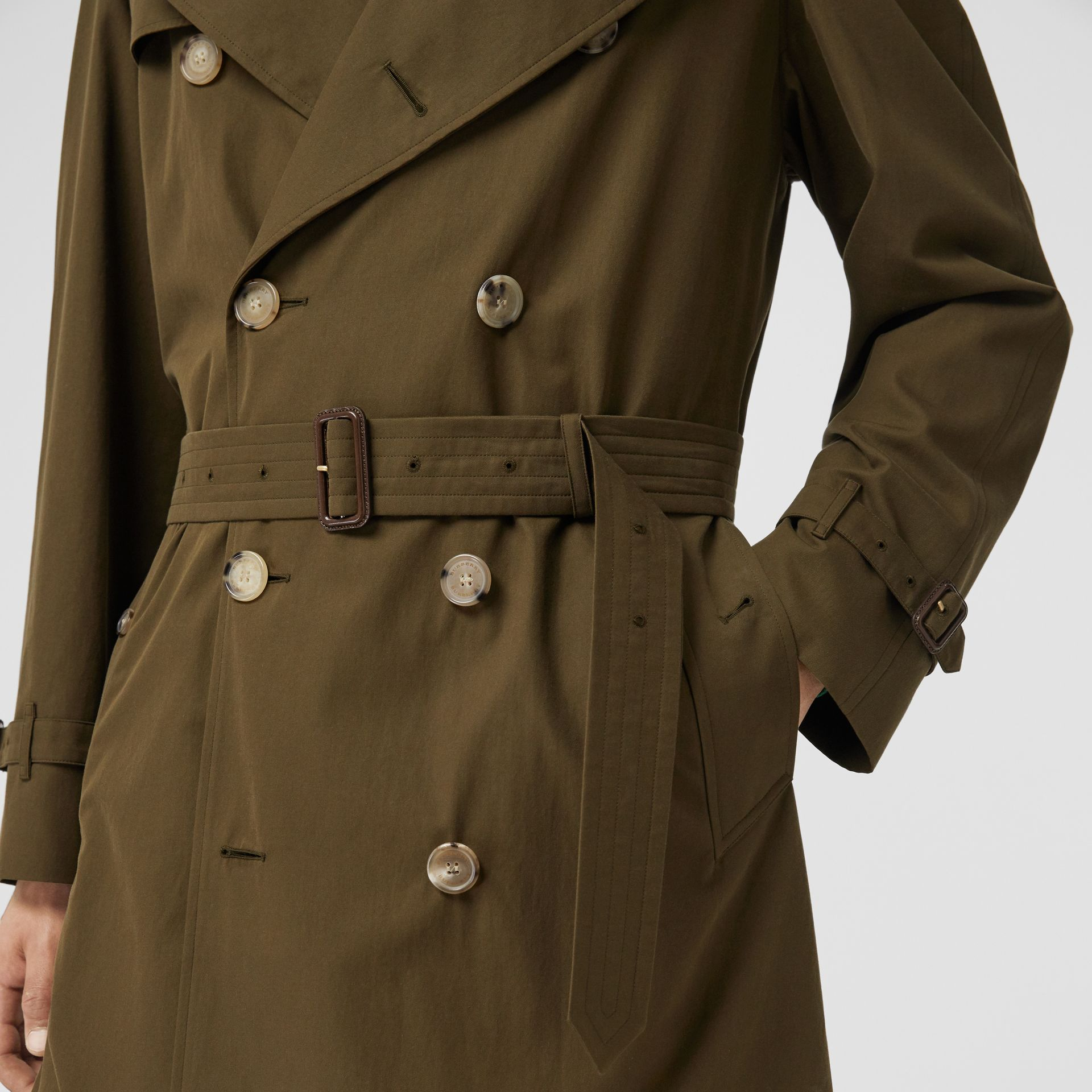 The Westminster Heritage Trench Coat in Dark Military Khaki - Men | Burberry Hong Kong - gallery image 5