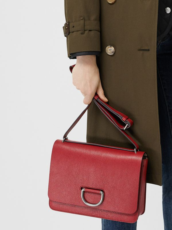 The Medium Leather D-ring Bag in Crimson - Women | Burberry Singapore - cell image 2