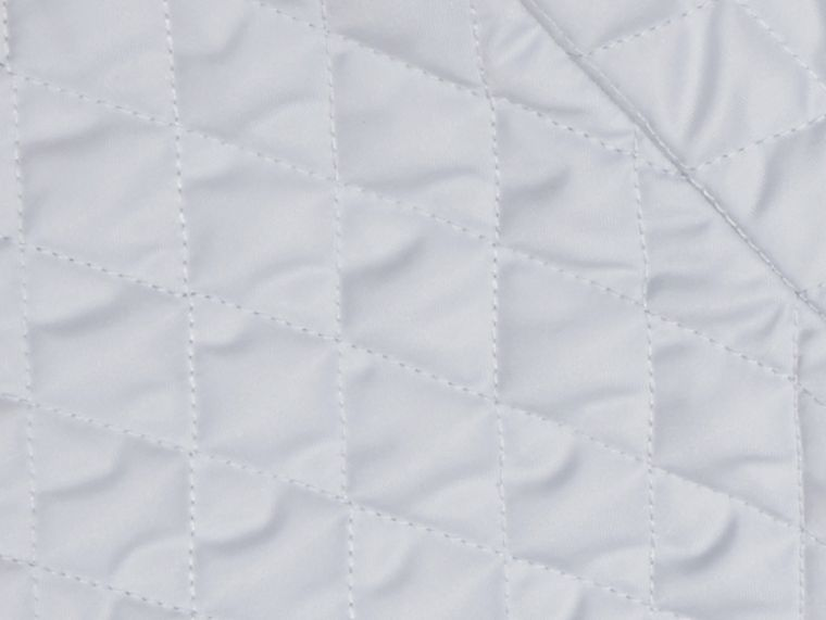 Ice blue Check Detail Diamond Quilted Jacket Ice Blue - cell image 1