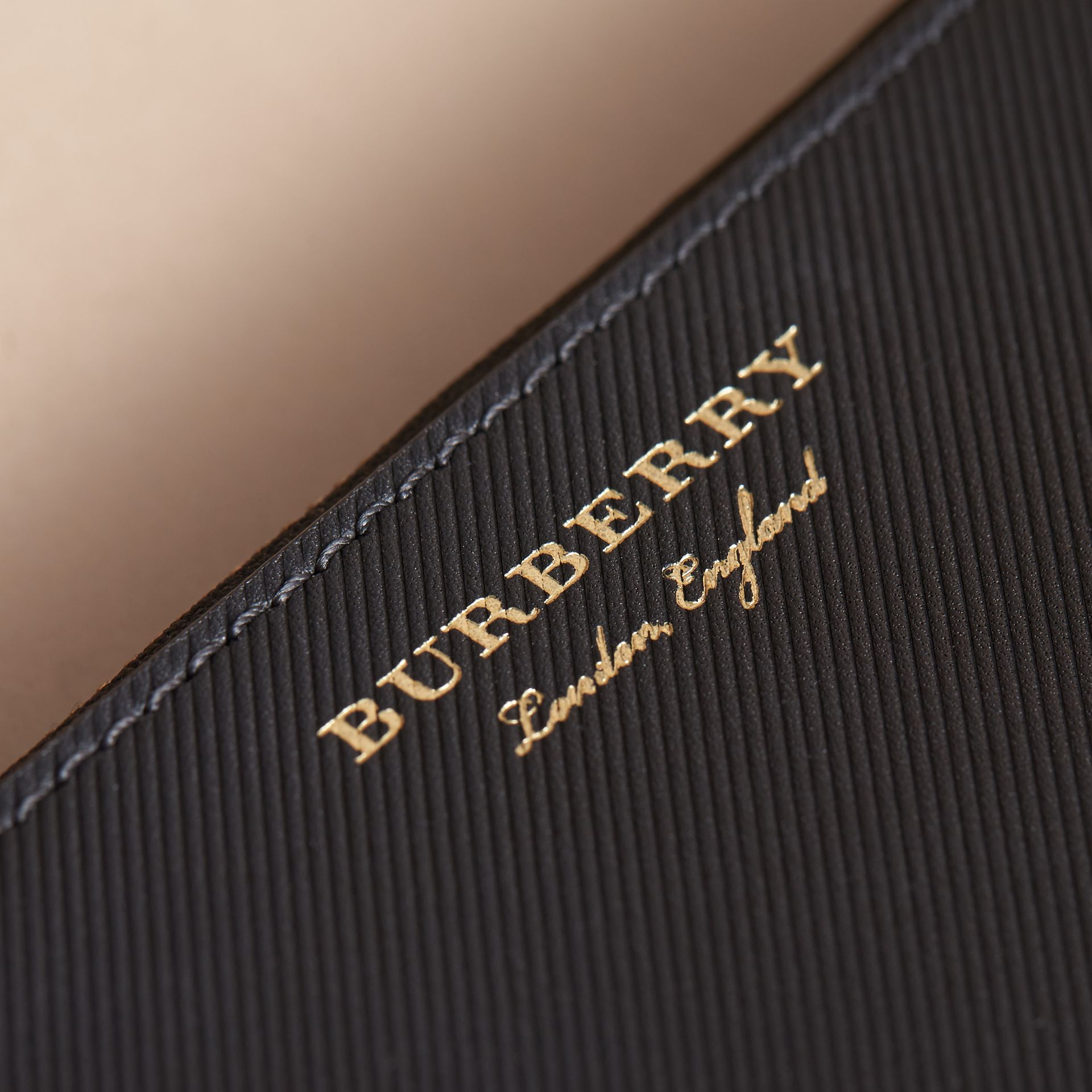 Two-tone Trench Leather Travel Wallet in Black - Men | Burberry - gallery image 2