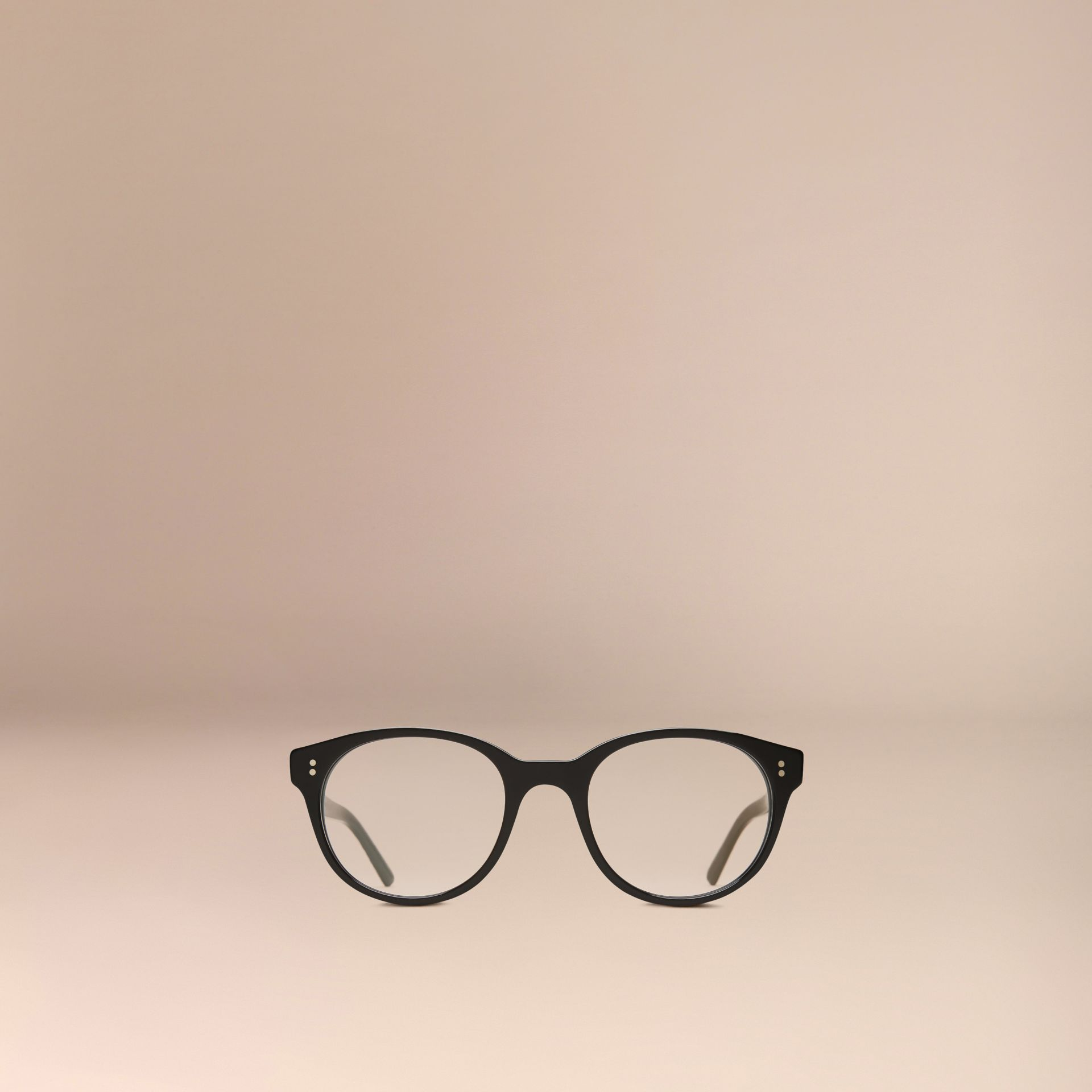 Black Round Optical Frames Black - gallery image 5