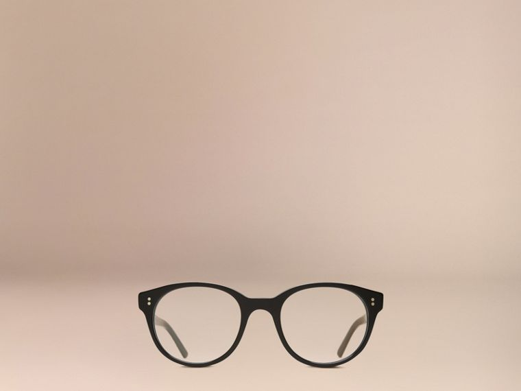 Black Round Optical Frames Black - cell image 4