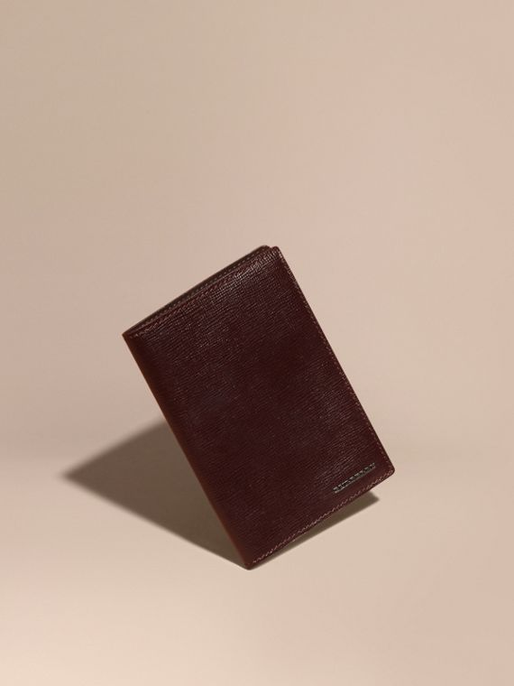 London Leather Passport and Card Holder Wine