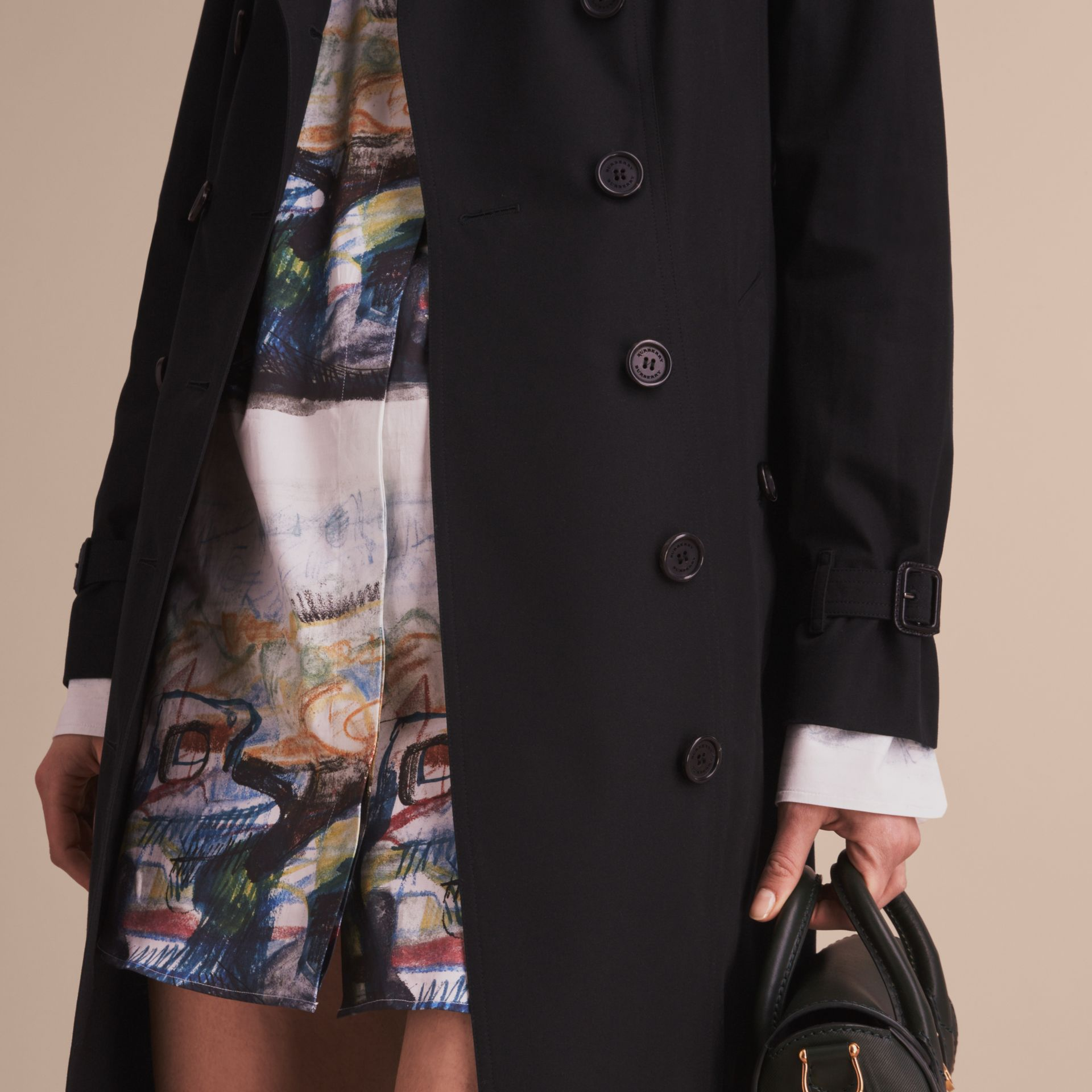 Black The Sandringham – Extra-long Heritage Trench Coat Black - gallery image 6