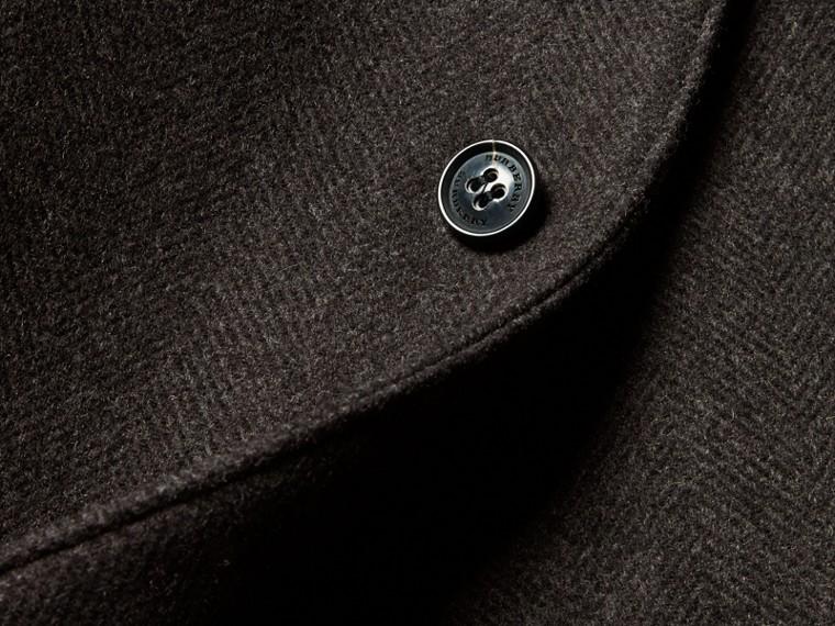 Camaïeu anthracite Manteau ajusté à boutonnage simple en laine mélangée - cell image 1