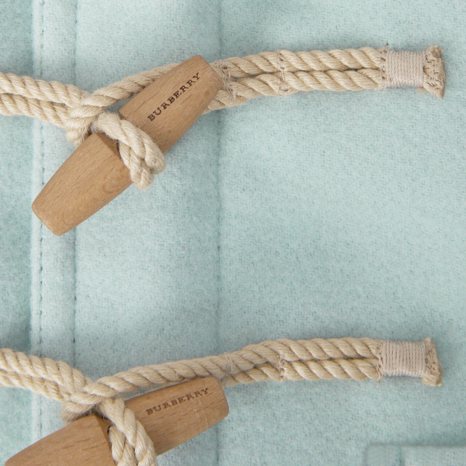 Boiled Wool Duffle Coat in Pale Mint | Burberry United Kingdom - gallery image 1