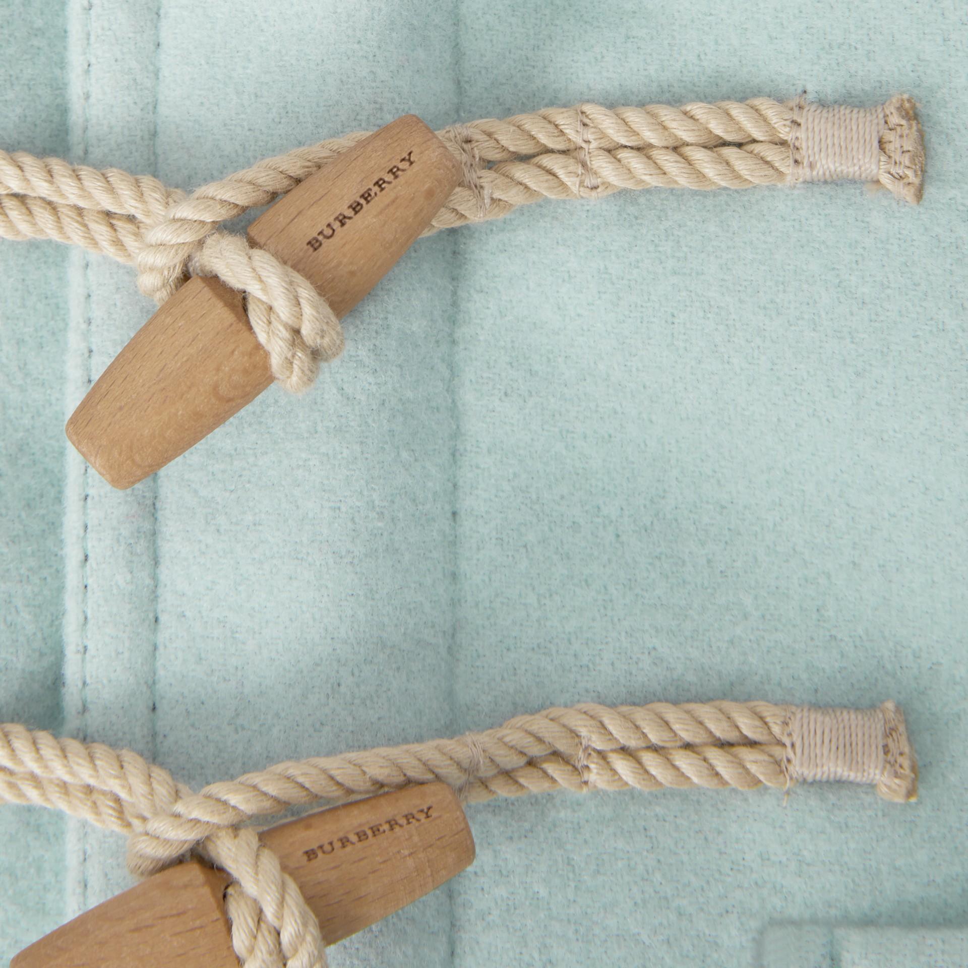 Duffle coat de lã (Menta Claro) | Burberry - galeria de imagens 1