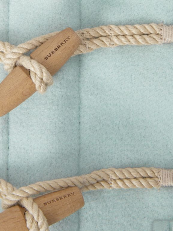 Boiled Wool Duffle Coat in Pale Mint | Burberry United Kingdom - cell image 1