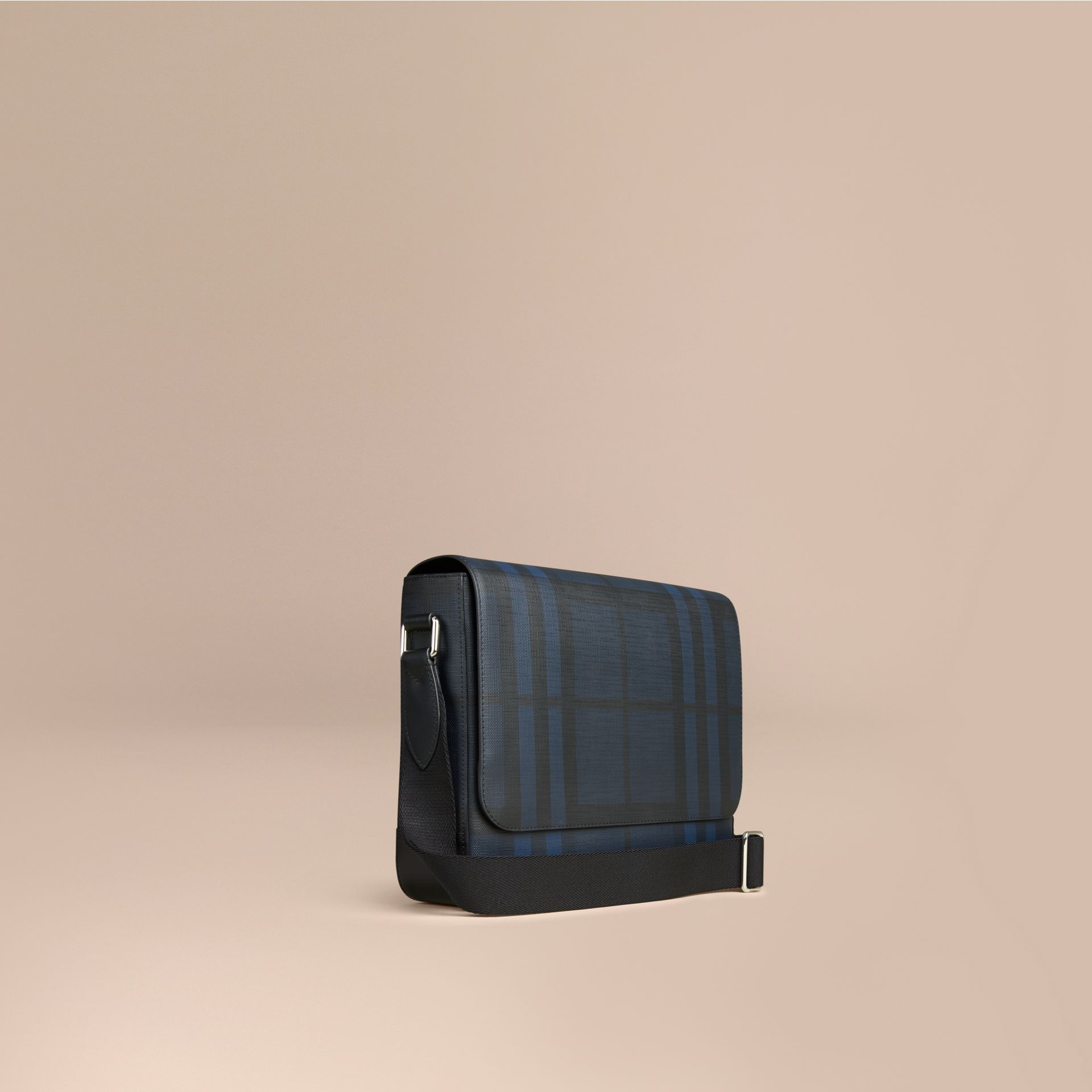 Navy/black Small London Check Messenger Bag Navy/black - gallery image 1