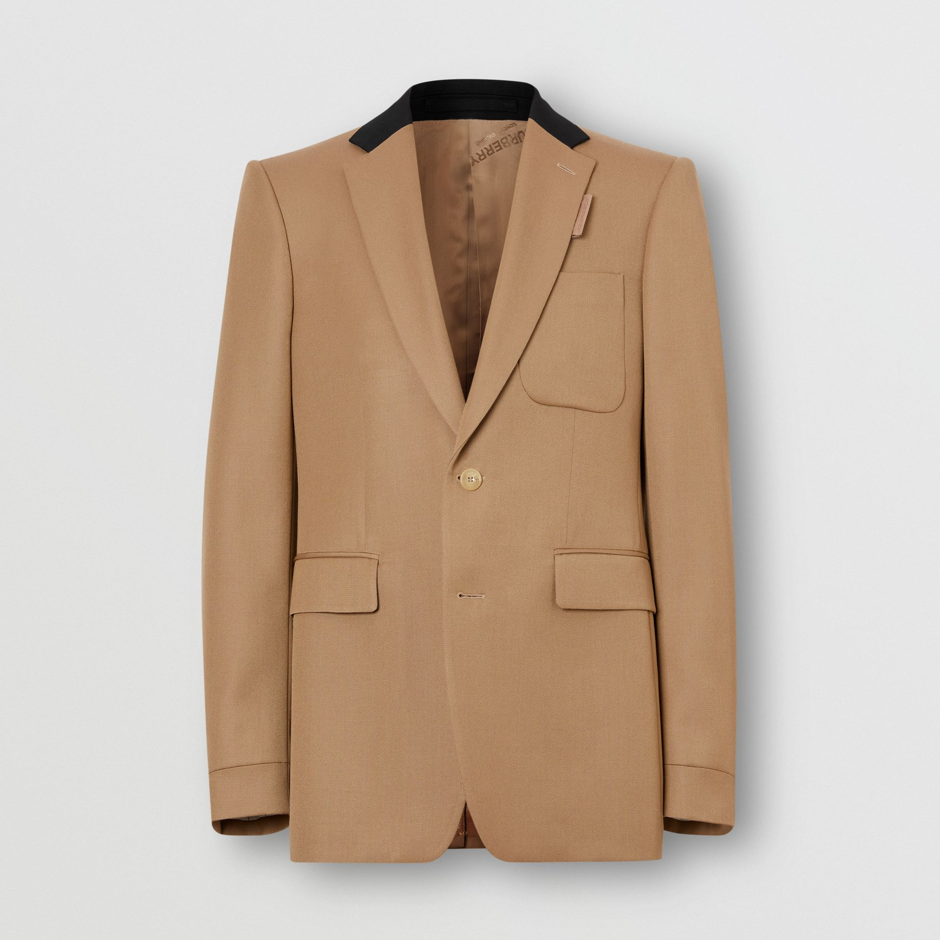Classic Fit Two-tone Wool Tailored Jacket in Camel - Men | Burberry United Kingdom - gallery image 3