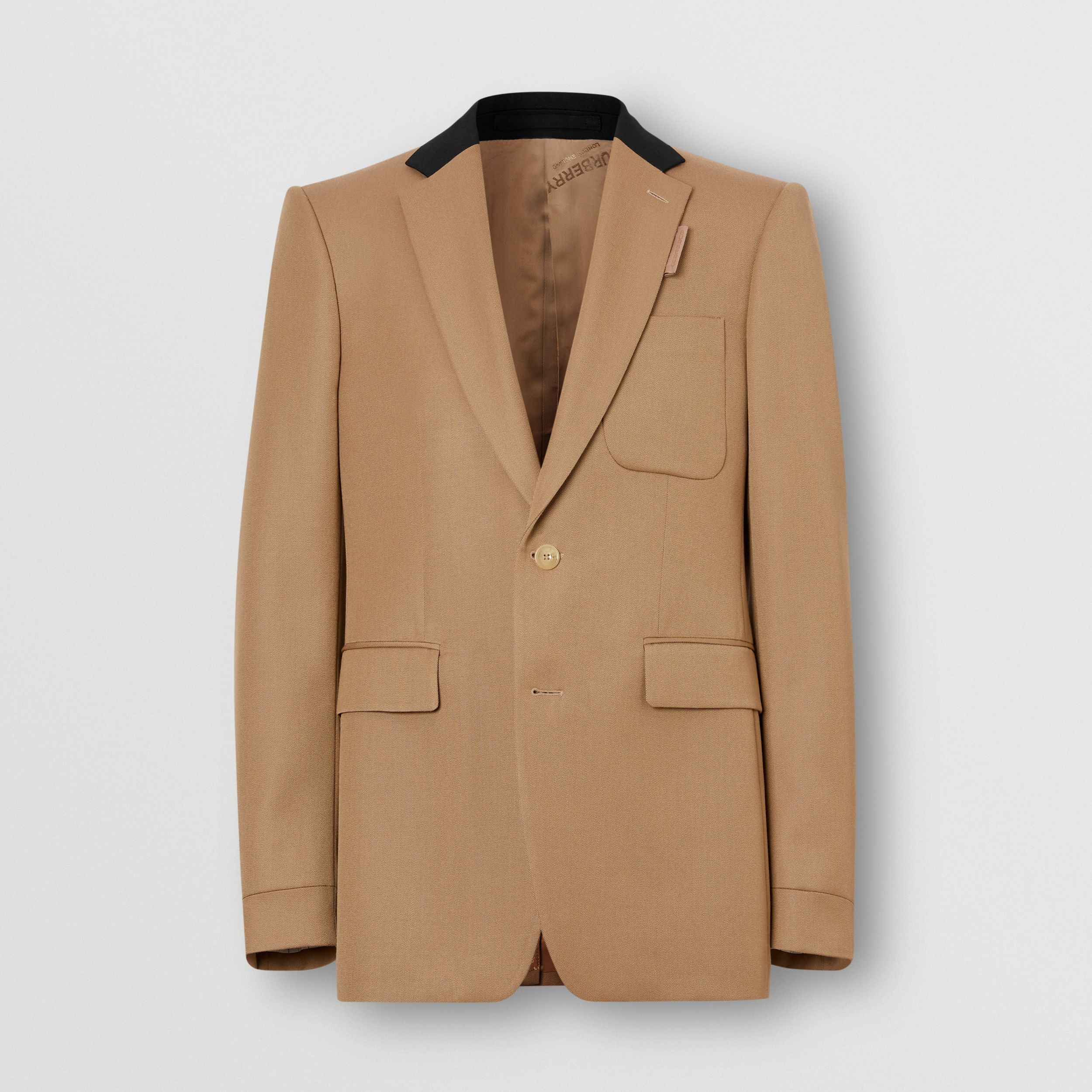 Classic Fit Two-tone Wool Tailored Jacket in Camel - Men | Burberry - 4