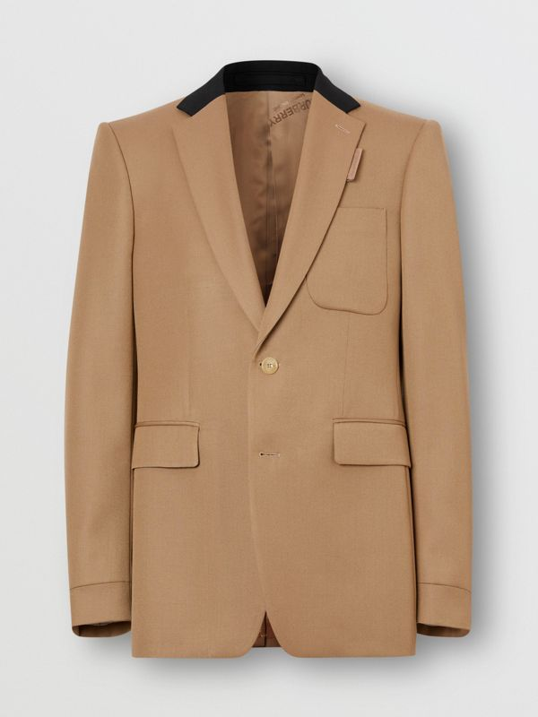 Classic Fit Two-tone Wool Tailored Jacket in Camel - Men | Burberry United Kingdom - cell image 3