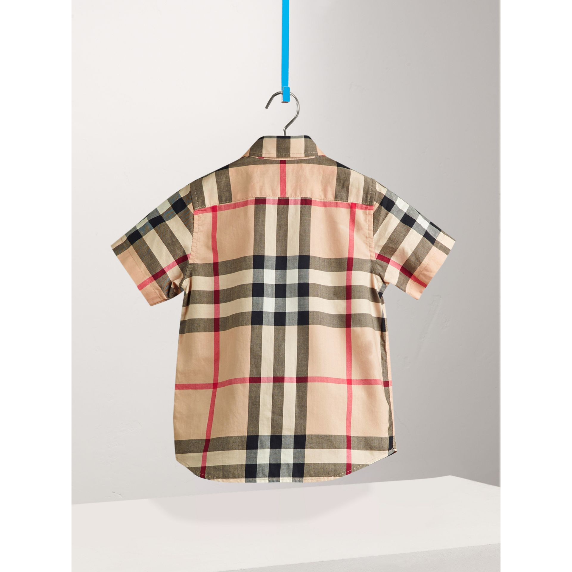 Short-sleeve Check Cotton Twill Shirt in New Classic - Boy | Burberry United States - gallery image 3