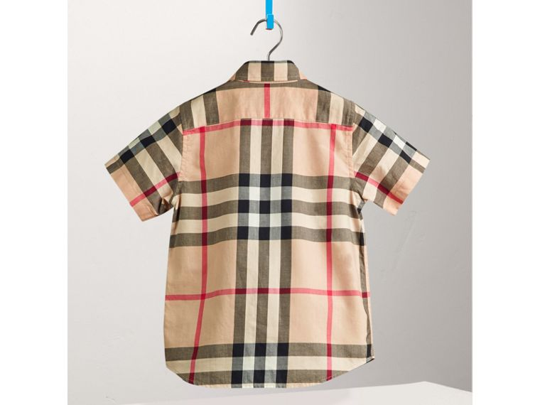 Short-sleeve Check Cotton Twill Shirt in New Classic - Boy | Burberry United States - cell image 2