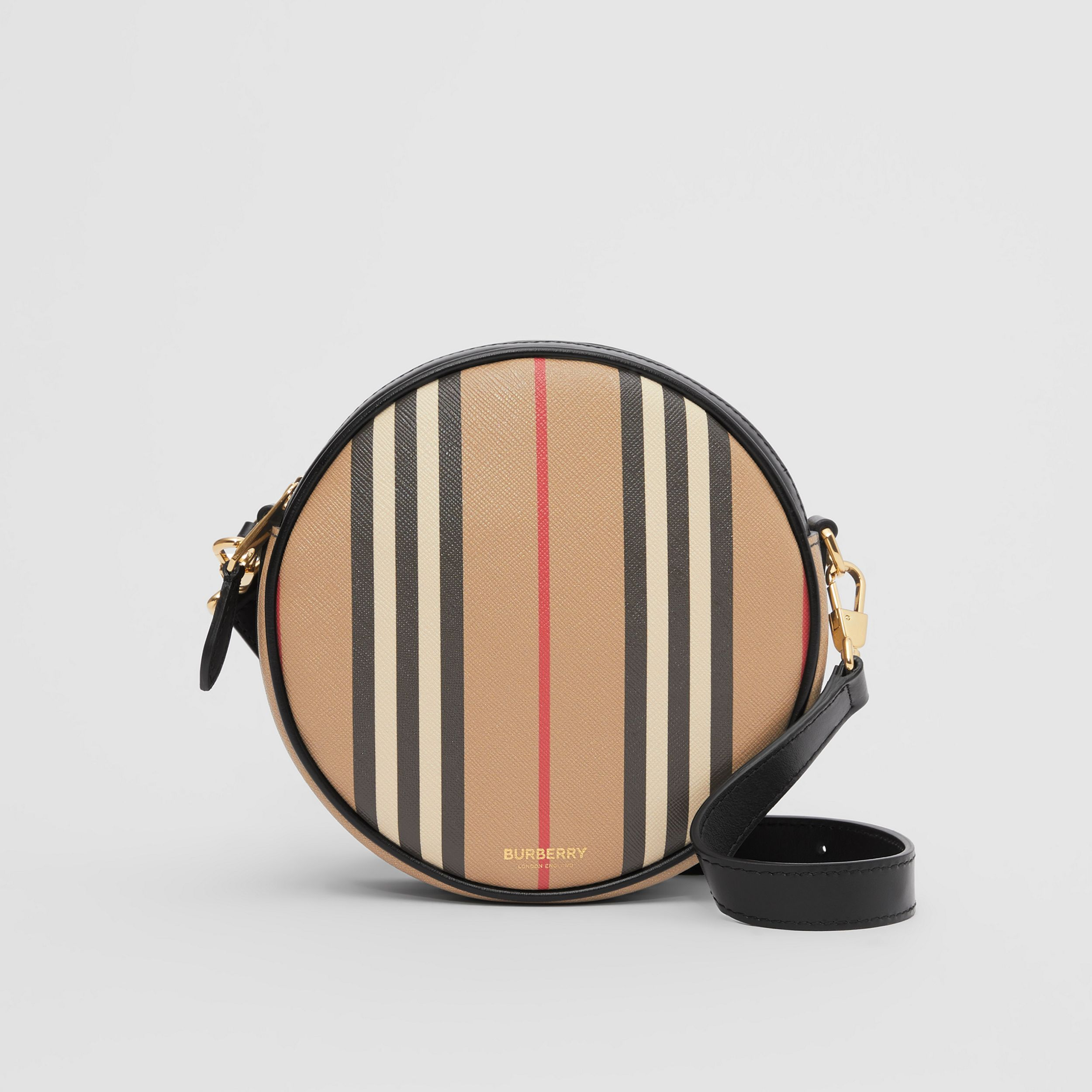 Icon Stripe E-canvas Louise Bag in Archive Beige - Women | Burberry Singapore - 1
