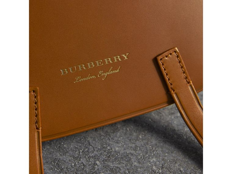 The Bridle Bag in Leather and Alligator in Tan - Women | Burberry Australia - cell image 1