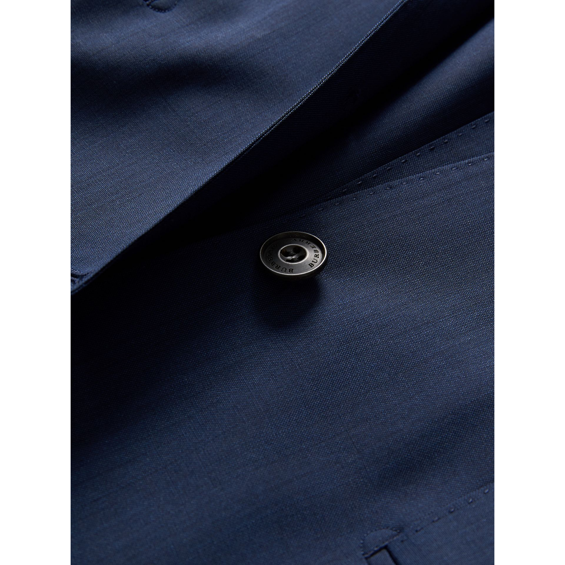 Modern Fit Stretch Wool Suit in Navy - Men | Burberry - gallery image 2