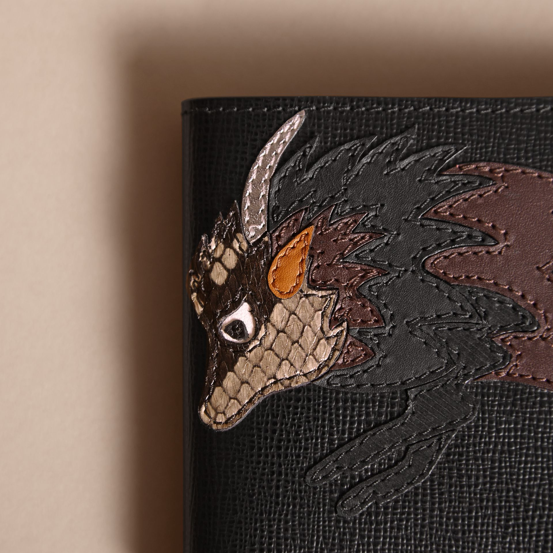 Beasts Motif Leather International Bifold Wallet - Men | Burberry - gallery image 2