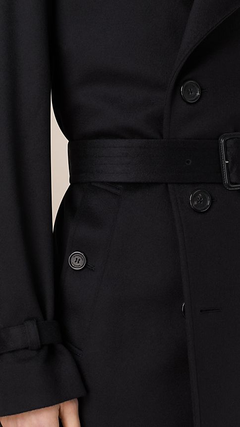 Navy Kensington Fit Cashmere Trench Coat - Image 4