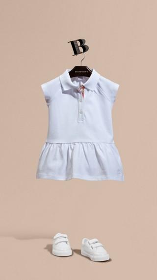Stretch Cotton Piqué Dress