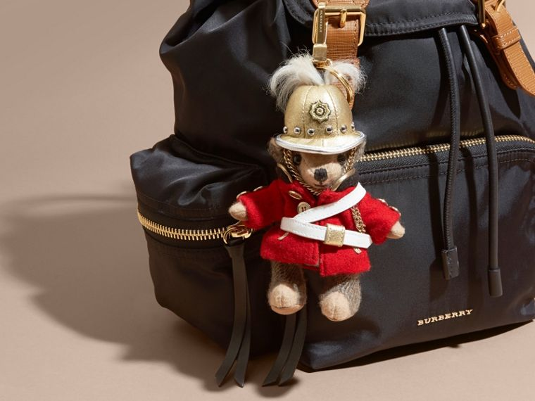 The Regimental Thomas Bear Charm in Camel | Burberry - cell image 1