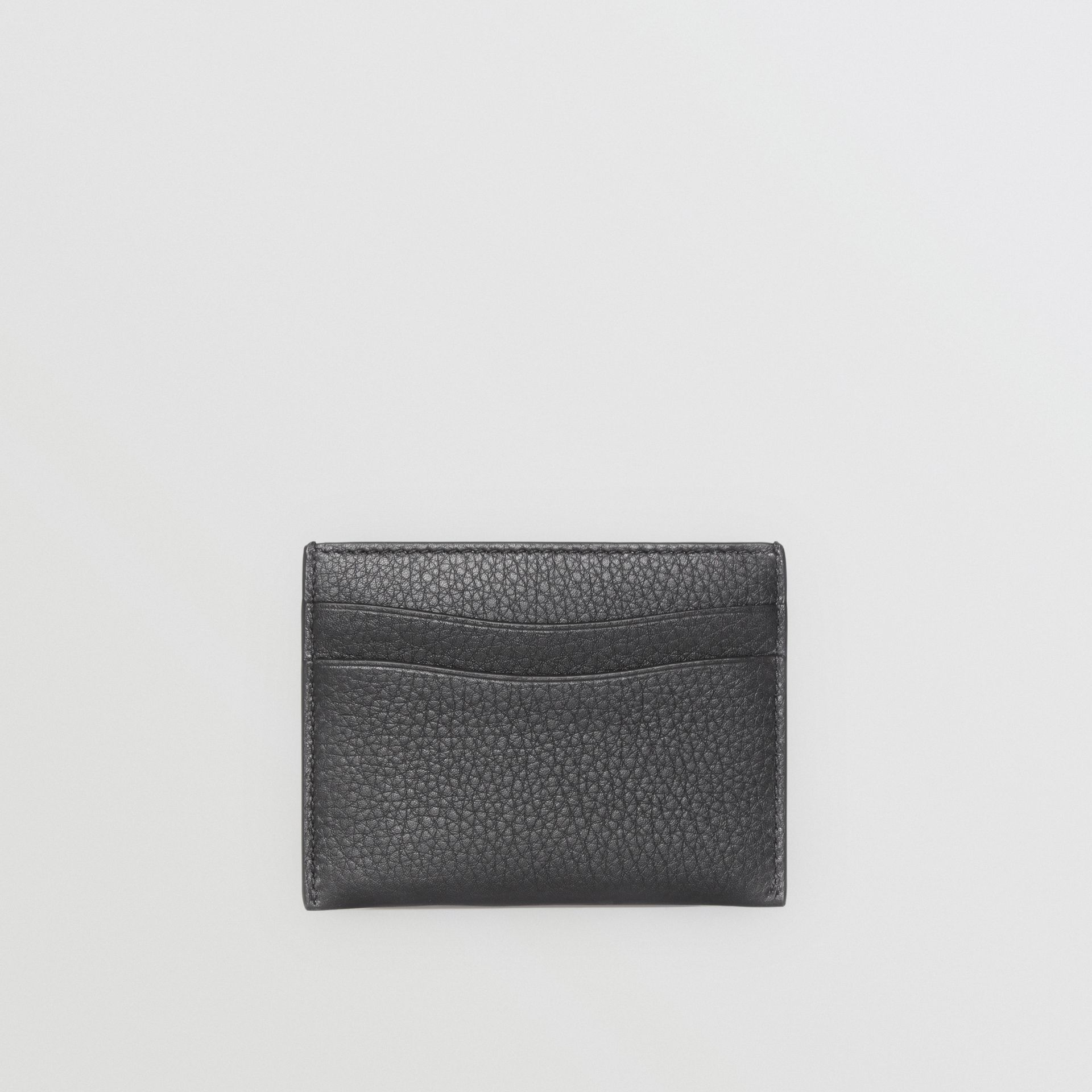 Grainy Leather Card Case in Black | Burberry Singapore - gallery image 4