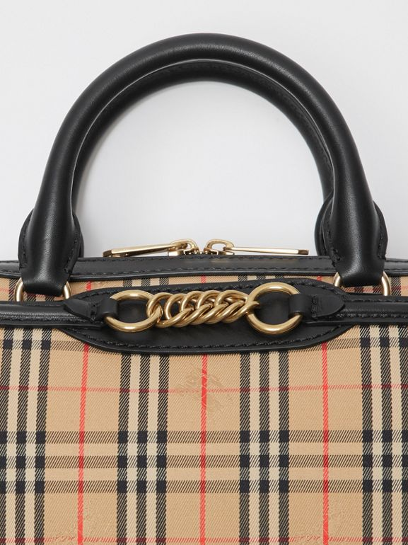 The Small 1983 Check Link Bowling Bag in Black - Women | Burberry - cell image 1