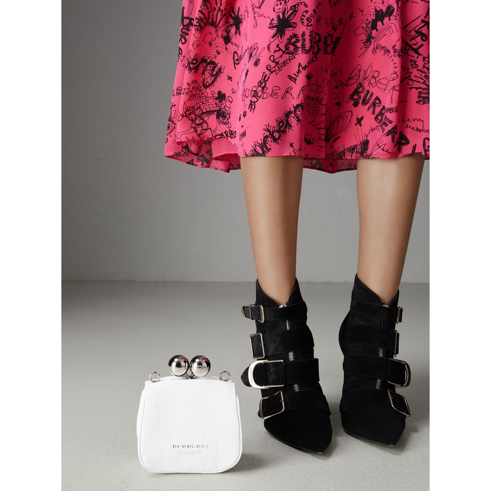 Mini Alligator Frame Bag in White - Women | Burberry United Kingdom - gallery image 6
