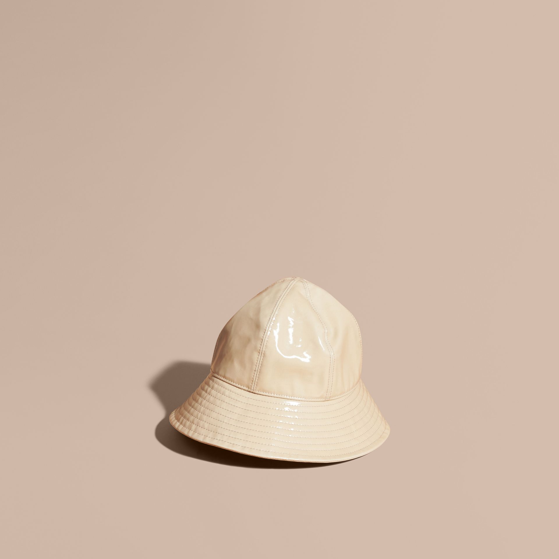 Stone Coated Cotton Gabardine Bucket Hat - gallery image 1