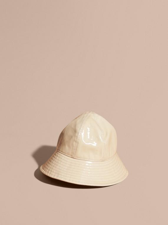 Coated Cotton Gabardine Bucket Hat