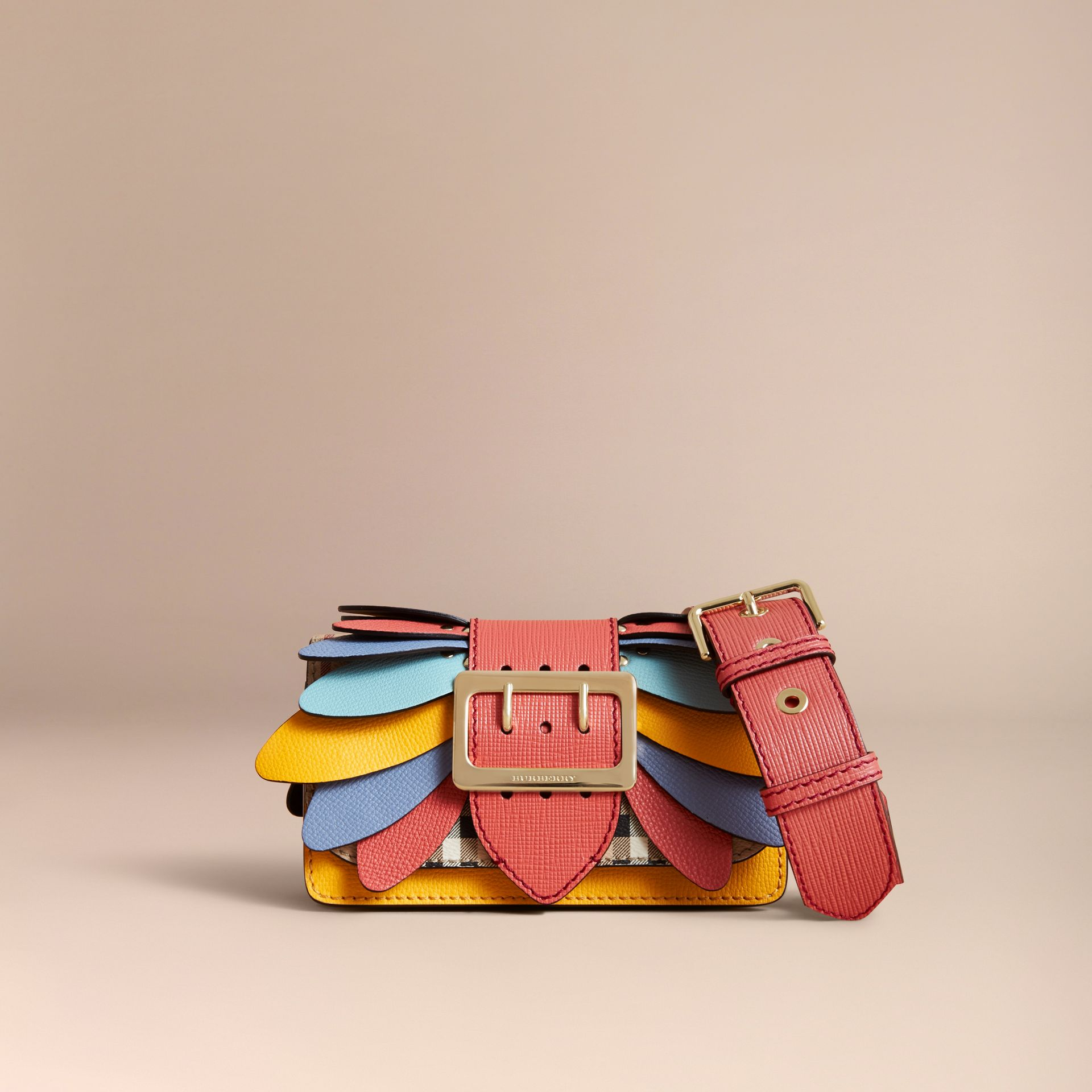 Petit sac The Buckle en coton Haymarket check et cuir - Femme | Burberry - photo de la galerie 8