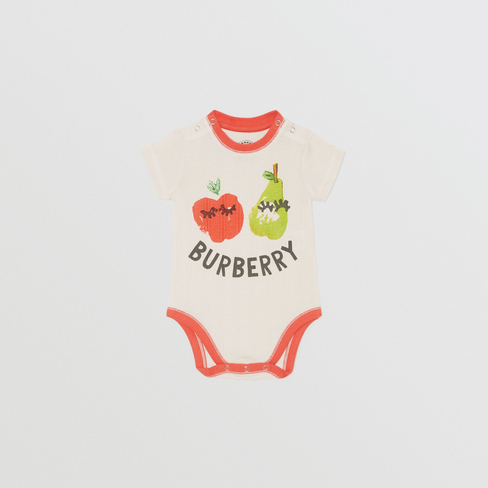Fruit and Flower Print Three-piece Baby Gift Set in Stone - Children | Burberry - gallery image 3