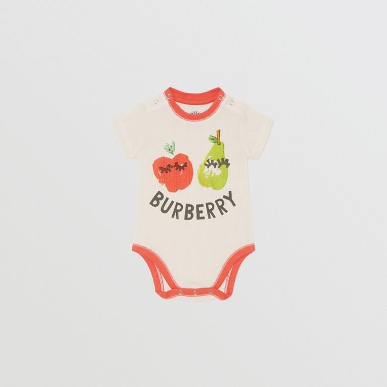 Burberry - Coffret cadeau trois pièces pour bébé à imprimé fruits et fleurs - 4