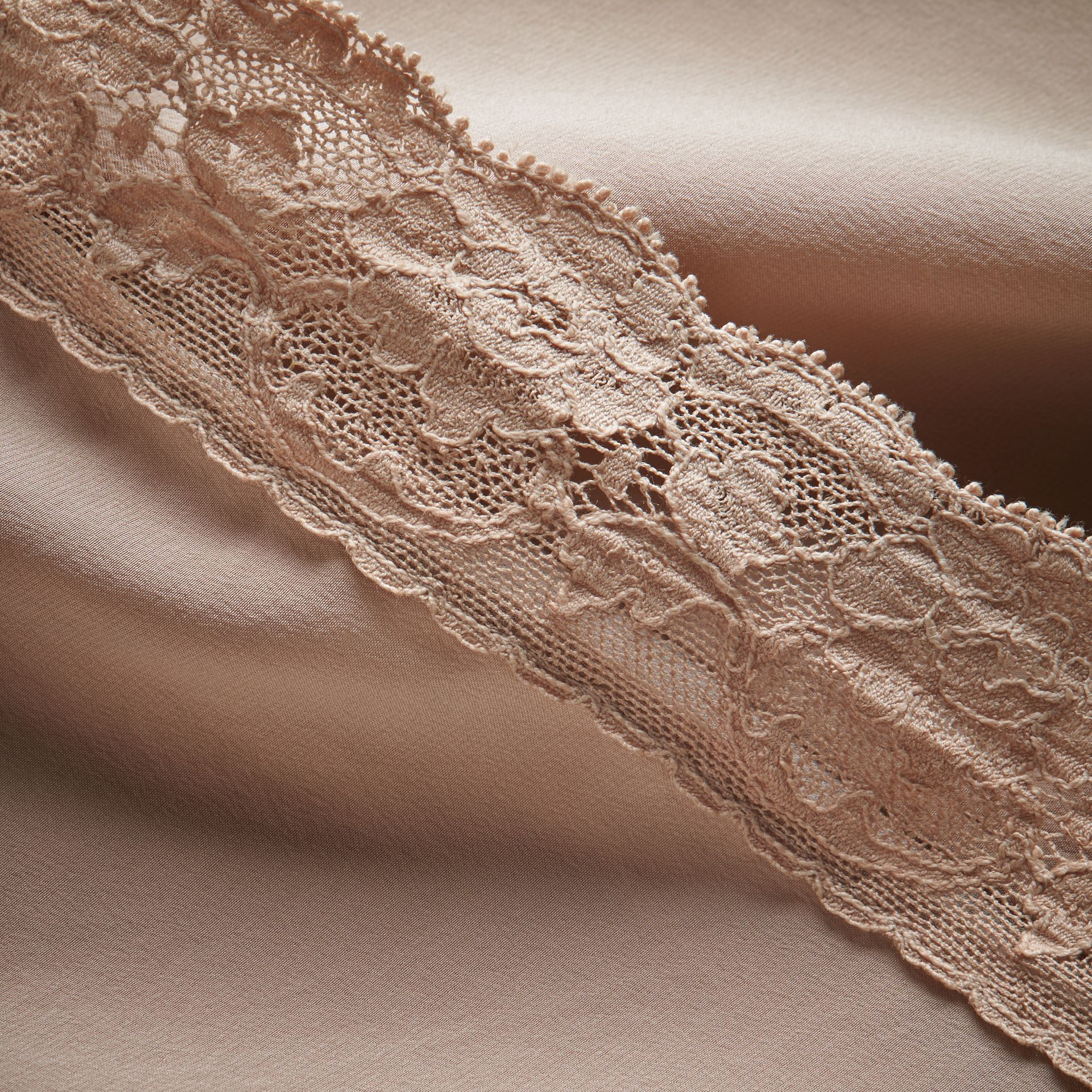 Lace Trim Silk Skirt - gallery image 2
