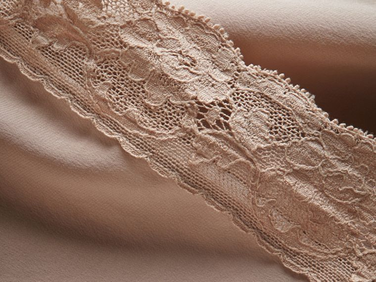 Lace Trim Silk Skirt - cell image 1