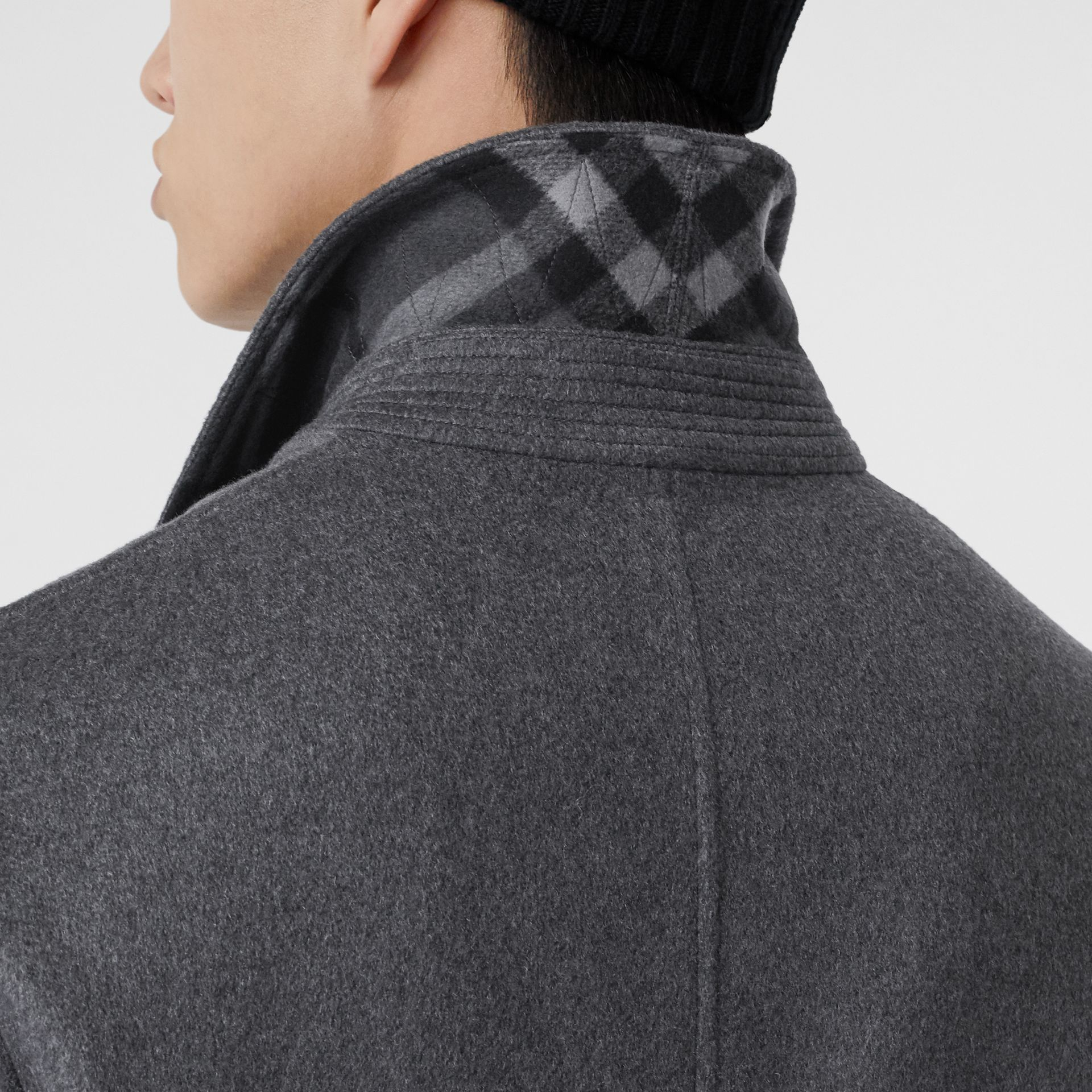 Cashmere Car Coat in Pewter Melange - Men | Burberry Hong Kong S.A.R - gallery image 5