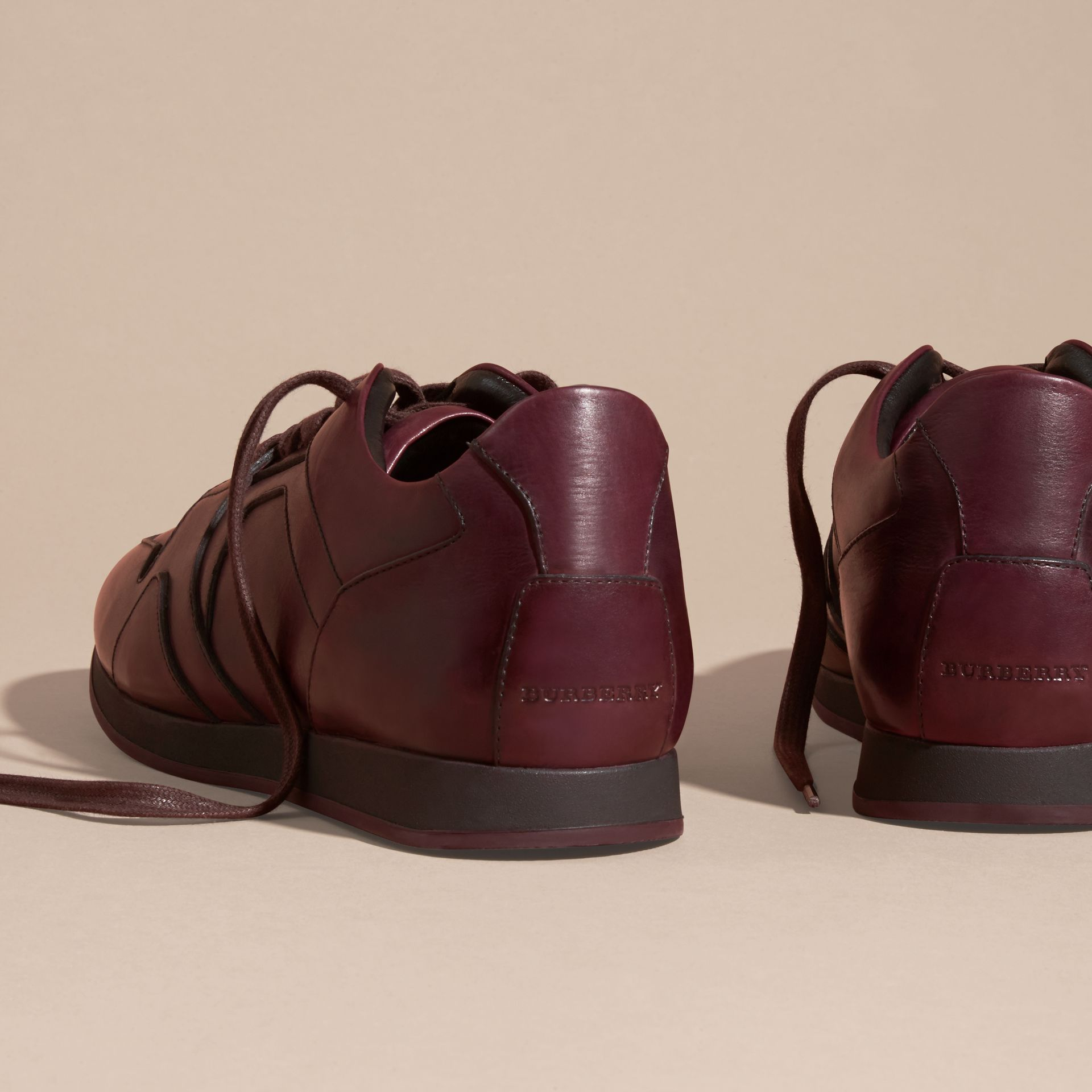 Elderberry The Field Sneaker in Leather Elderberry - gallery image 4