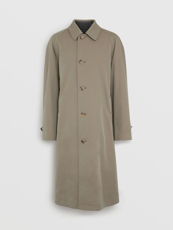 Reversible Tropical Gabardine and Wool Car Coat in Chalk Green - Men | Burberry United Kingdom - cell image 3