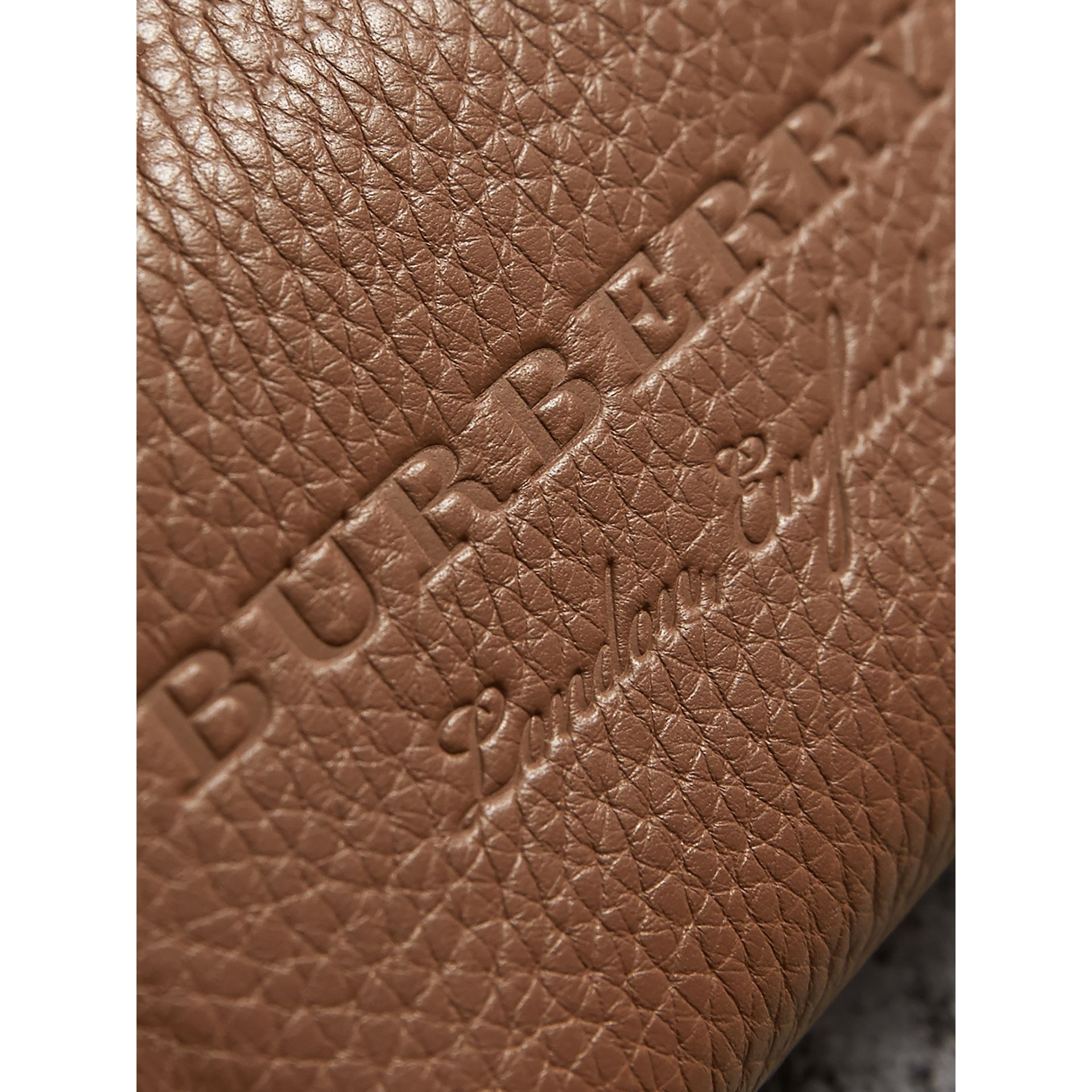 Textured Leather Ziparound Coin Case in Chestnut Brown - Men | Burberry - gallery image 1