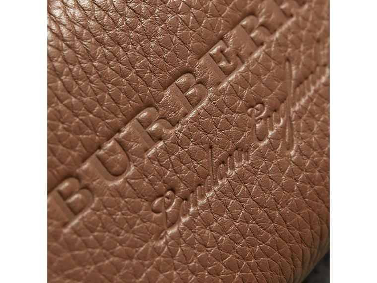 Textured Leather Ziparound Coin Case in Chestnut Brown - Men | Burberry - cell image 1