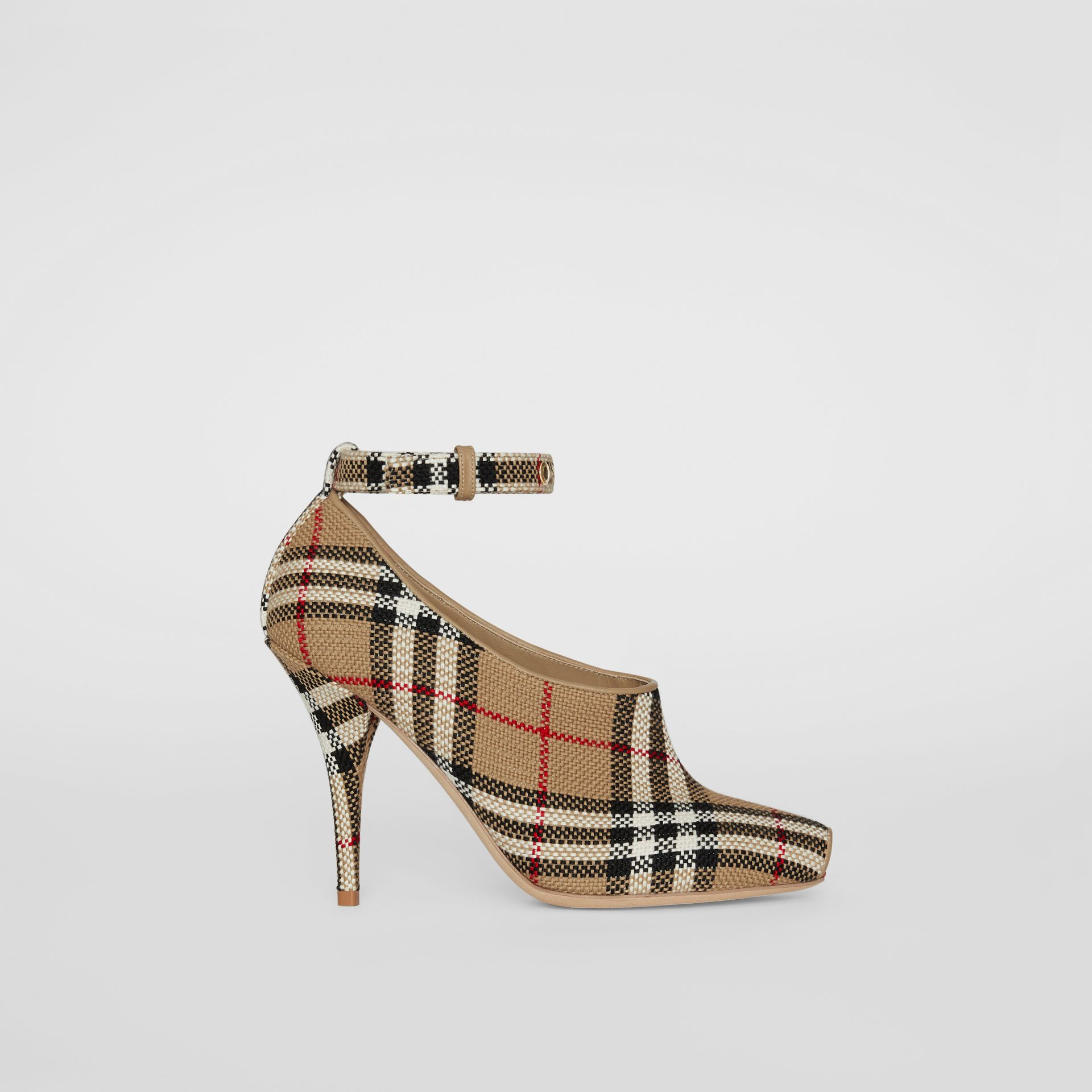 Vintage Check Peep-toe Pumps in Archive Beige - Women | Burberry - gallery image 5