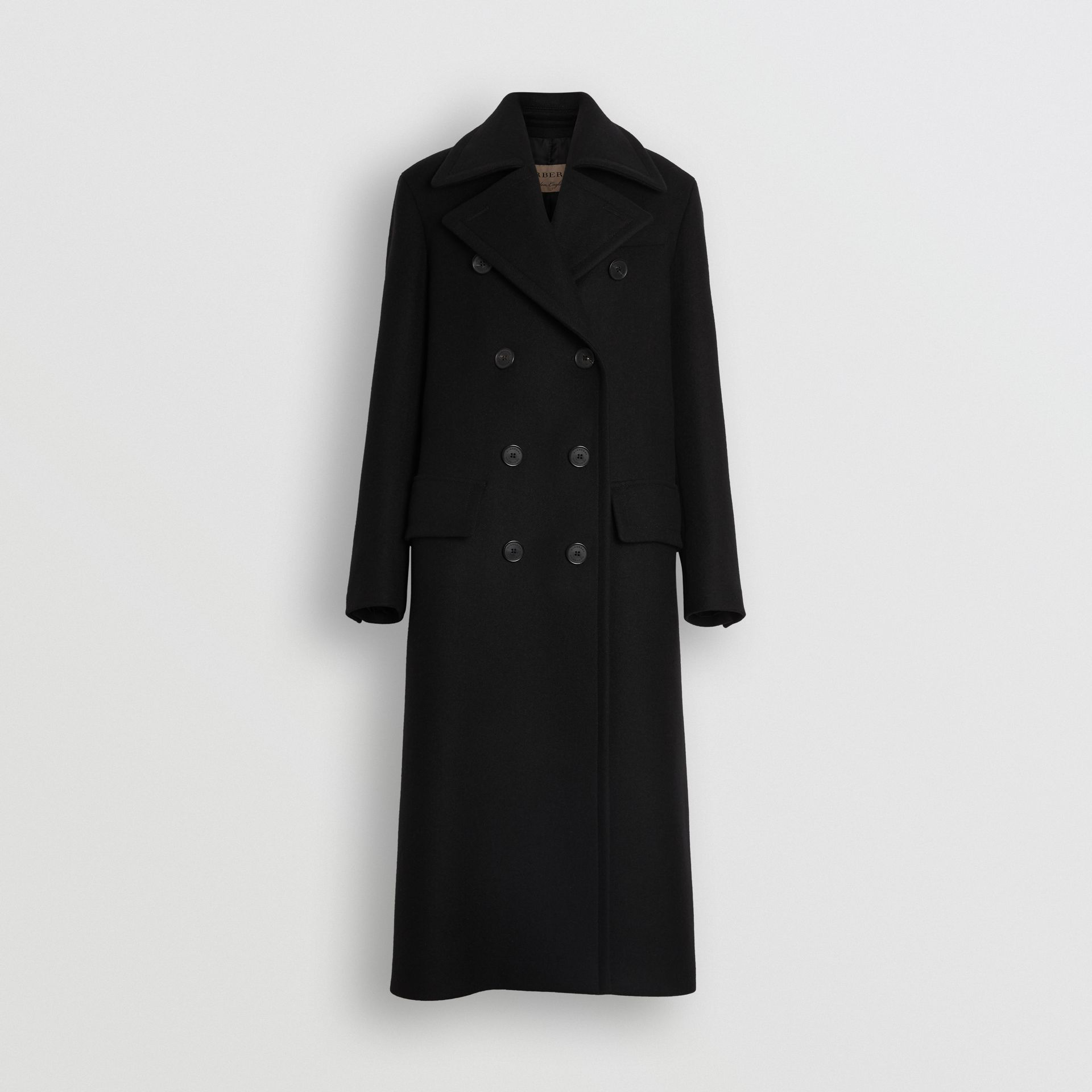 Double-faced Cashmere Tailored Coat in Black - Women | Burberry Canada - gallery image 3