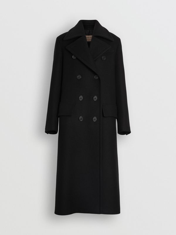 Double-faced Cashmere Tailored Coat in Black - Women | Burberry Canada - cell image 3