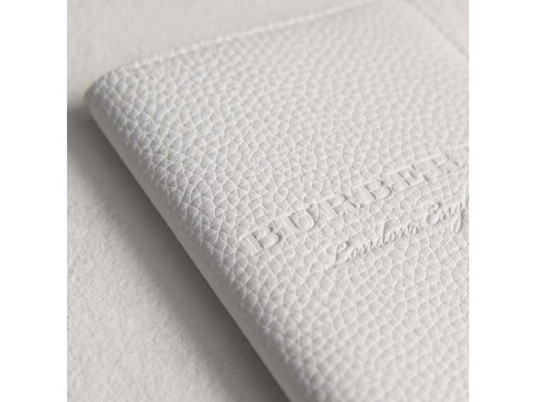 Embossed Leather Passport Holder in Chalk White | Burberry Singapore - cell image 1