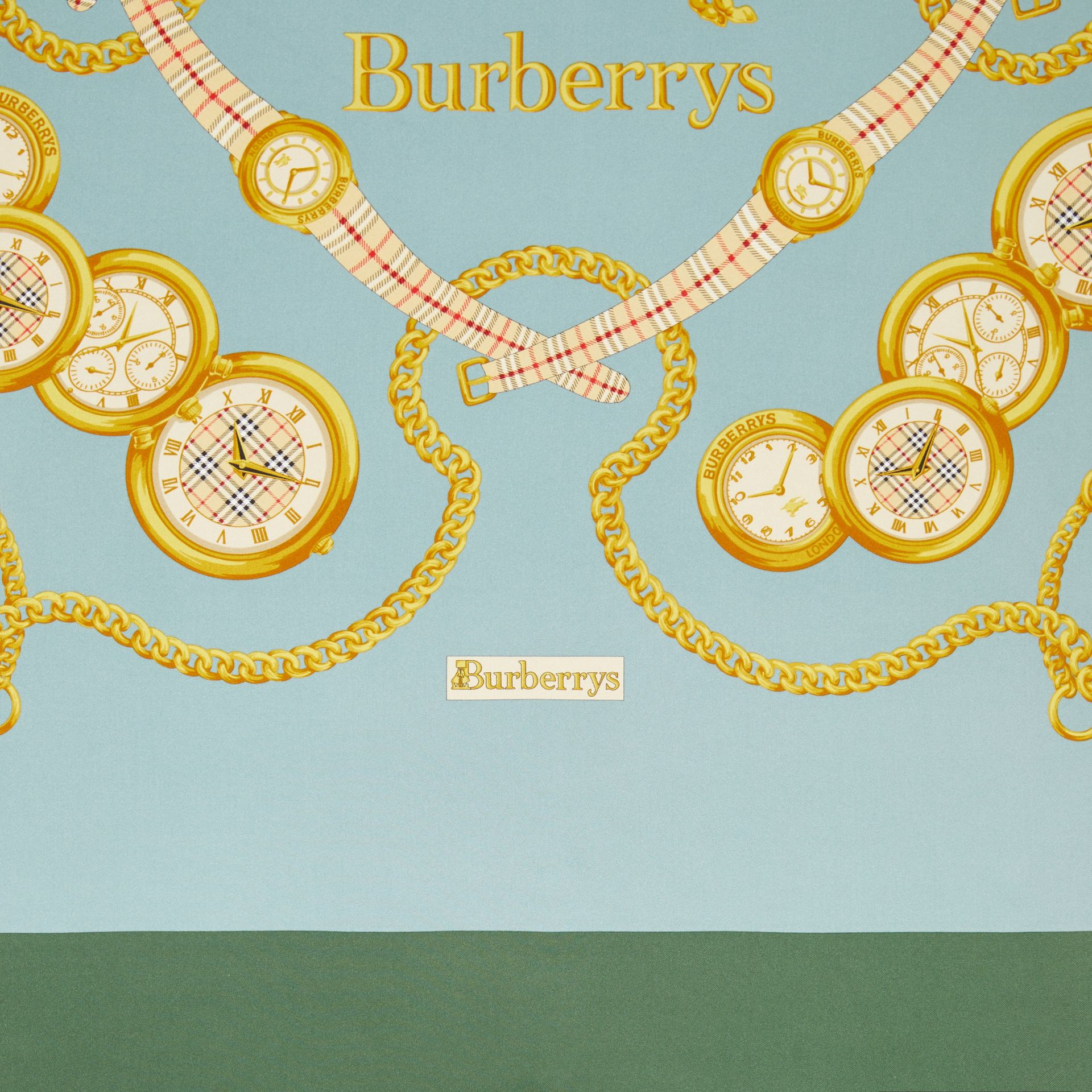 Archive Scarf Print Silk Scarf in Multicolour | Burberry Hong Kong - gallery image 1