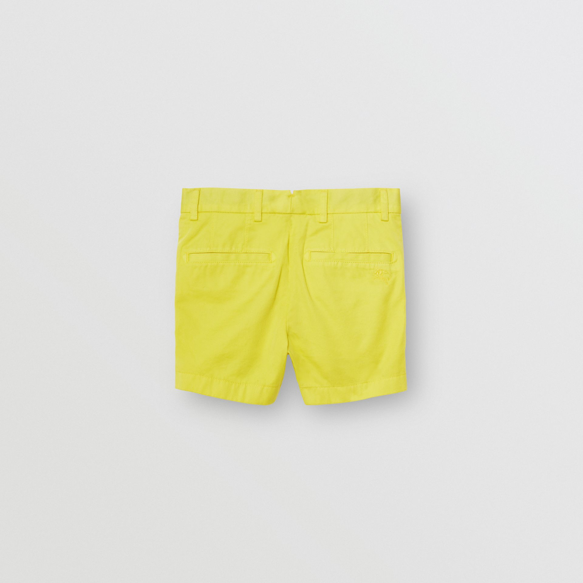 Cotton Chino Shorts in Citron - Boy | Burberry United Kingdom - gallery image 3