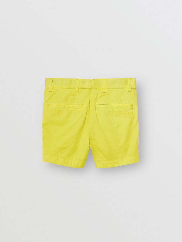 Cotton Chino Shorts in Citron - Boy | Burberry Hong Kong - cell image 3