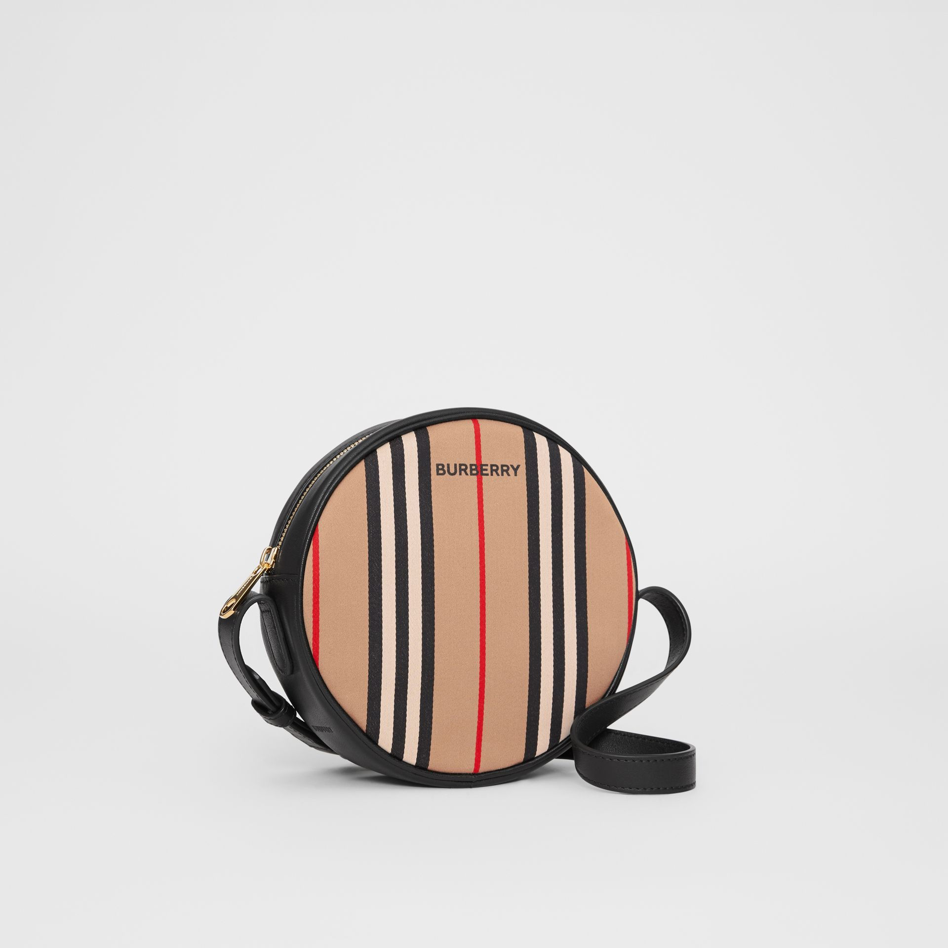 Icon Stripe Cotton Crossbody Bag in Honey/black - Children | Burberry - gallery image 4