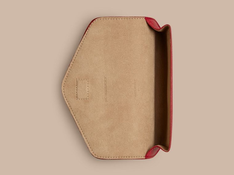 Parade red Grainy Leather Eyewear Case Parade Red - cell image 1